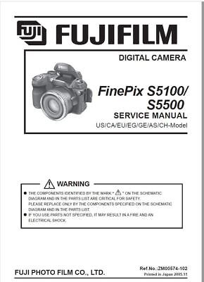 Fujifilm Finepix S5100/s5500 Service & Repair Manual