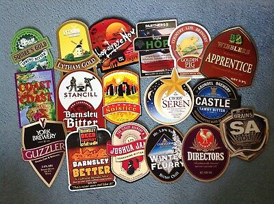 Collection 17 Assorted Beer Pump Clips Inc Brains Lytham Ilkley Arundel 1