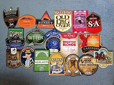 Collection Of 18 Assorted Beer Pump Clips Inc Loddon Brains Kingstone 5