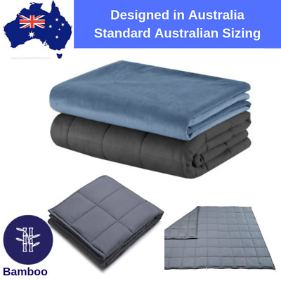 Weighted Blanket - Organic Bamboo for Hot Sleepers - Gravity Blanket Kids Adults