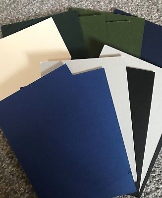 "12 ASSORTED COLOURS MOUNTBOARD MOUNT BOARD CARD  5 X 7  5"" x 7"" IDEAL CRAFTS"