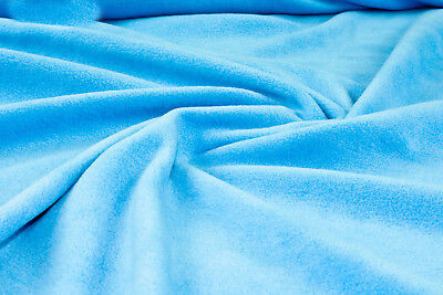 Seconds Offcuts Turquoise Anti Pill Polar fleece fabric warm blanket material R