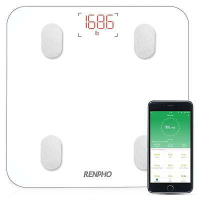 RENPHO Bluetooth Body Fat Scale with IOS and Android APP Digital Bathroom White