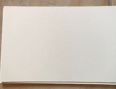 Pack 5  Soft White Colour Mount Board Card 30Cm X 20 Cm Bevel Edge Cut Crafts