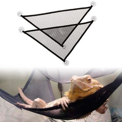2 Pcs/Set Reptile Pet Hammock Mesh Sleeping Bed Play Toys Swing With Suction Cup
