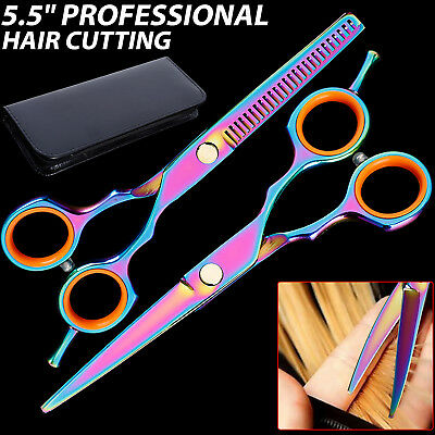 "5.5"" Barber Salon Scissors Hairdressing Hair Cutting Shears Razor Sharp Edge Set"