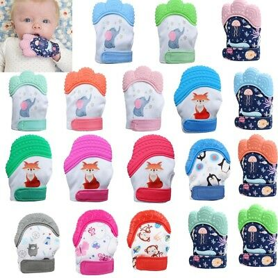 Baby Silicone Mitts Teething Mitten Teething Glove Candy Wrapper Soft Teether CY