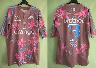 Maillot stade Francais  2007 Adidas Paris SF collector Vintage Orange #3 - L
