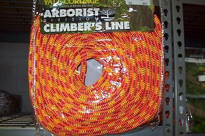 "Tree Climbing Line/Rope 1/2"" X 150' Yale XTC Fire 16Strand,6200 Lb. Strength USA"