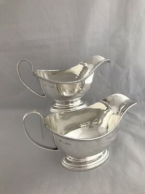 Pair Of Sterling Sauceboats 1929 Birmingham MAPPIN & WEBB