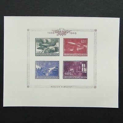 Germany Nazi 1939 - 1945 Stamps MINT Imperf Sheet Swastika Eagle Airplane WWII T