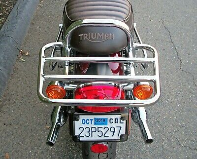 TEC Luggage Rack Touring CHROME - Triumph water-cooled T120 - Year 2016+