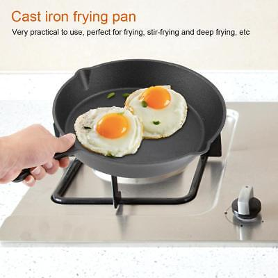 Cast Iron Cooking Frying Pan Food Meals Gas Induction Cooker Cooking Pot Kitchen