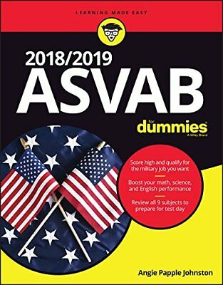 ASVAB for Dummies 2018 / 2019 (New Paperback) by Rod Powers and Angie Papple