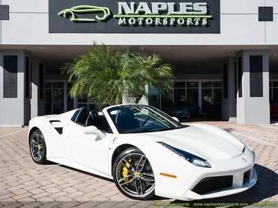 2018 Ferrari 488 Spider 2018 Ferrari 488 Spider - White/Black - Diamond Forged Wheels - 916 Miles