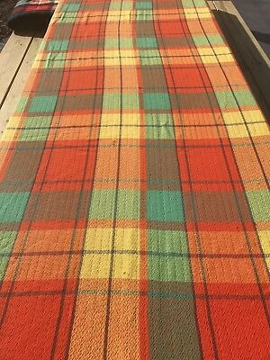 Vtg Fashion Manor Twin Size Blanket, Thin Weave, Picnic, Festival, Camping Couch