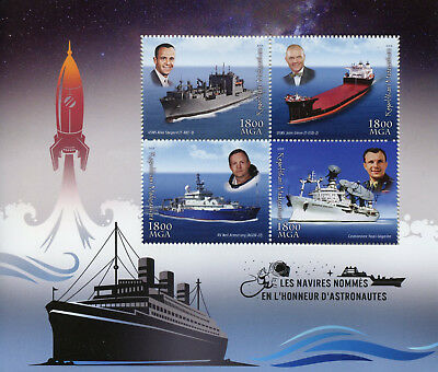 Madagascar 2018 MNH Ships Named After Astronauts 4v M/S Boats Space Stamps