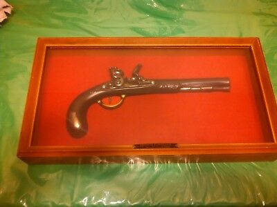 Embosograph Replica 1773 French Flintlock Display Case Plastic Pistol Non Firing