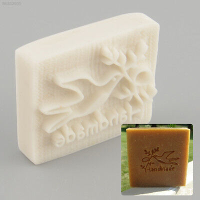 8D3A Pigeon Desing Handmade Yellow Resin Soap Stamp Stamping Mold Craft DIY