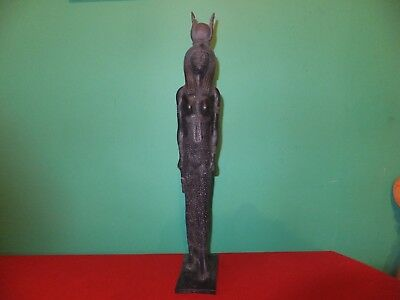 Beautiful Statuette Of The  Ancient Egyptian Mother Goddess Isis (Repro).