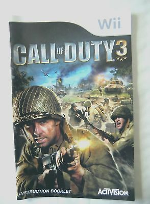 59403 Instruction Booklet - Call Of Duty 3 - Nintendo Wii (2006) RVL-RCDP-UKV