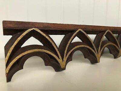 Nice Gilt Gothic Tracery/Pediment carved in wood (1)