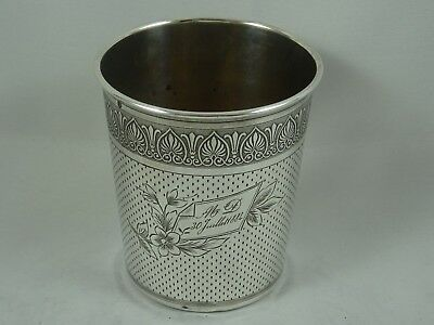 FRENCH solid silver BEAKER, c1890, 69gm