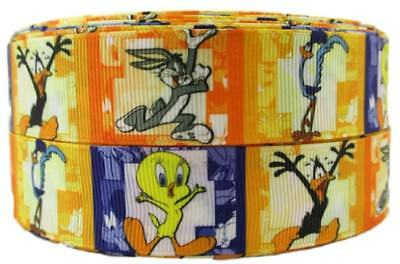 """Goofy Face 1/"""" Wide Repeat Ribbon Sold in Yard Lots"""