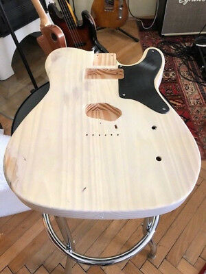 Telecaster Body,  US Pinewood, faded mary kay white, one off, RELIC