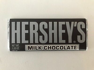Vintage Hershey Bar 1.55oz Milk Chocolate w/ Foil and Paper Sleeve Wrapper