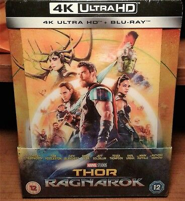 Thor Ragnarok [Lenticular Steelbook] [4K+2D Blu-ray] NEW - Contains a loose disc
