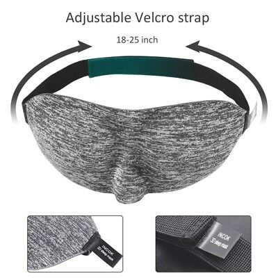 3D Soft Padded Shade Cover Rest Relax Sleeping Blindfold Travel Eye Mask Sleep
