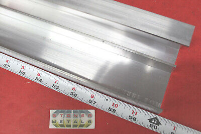 """2 Pieces 2-1/4"""" x 1"""" x 1/8"""" Wall 6061 T6 ALUMINUM CHANNEL 60"""" long Mill Stock"""
