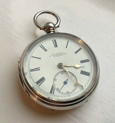 Thomas Russell 1891 Maker to the Queen silver fusee pocket watch IMMACULATE GWO