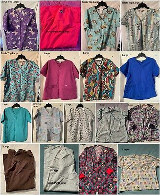 Scrub Lot Size Large (17 Pieces Total)