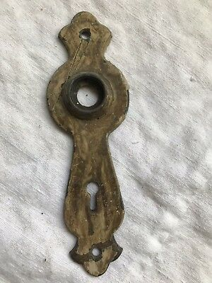 ANTIQUE BRASS Cutout Decorative DOOR ESCUTCHEON KNOB BACKPLATE 6 1/2""