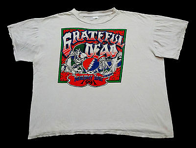 "Grateful Dead Shirt T Shirt Vintage 1991 Summer Tour Lot Tee 28.5"" Pit-to-Pit"