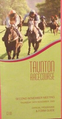 TAUNTON 2005 MEETING RACE CARD - Thursday 24th November 2005 (Multi signed).