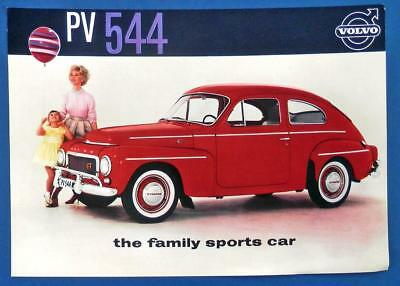 """1960 VOLVO PV 544 advertising flyer """"the family sports car"""""""