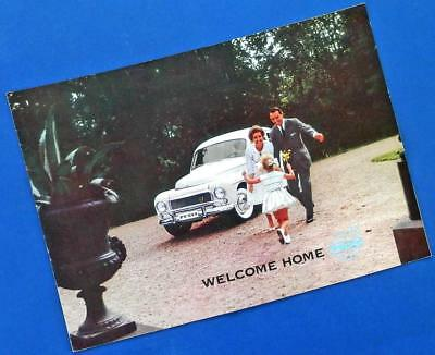 """1960 VOLVO 544 12-page brochure """"WELCOME HOME"""""""