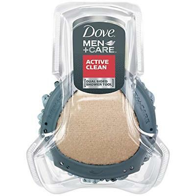 Dove Men+Care Dual Sided Shower Tool, Active Clean NEW