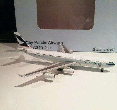 JC Wings XX4821 Cathay Pacific Airbus A340-200 VR-HMU 1 400 scale model airplane