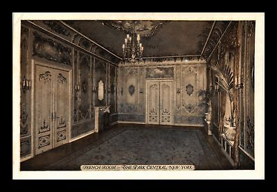 Dr Jim Stamps Us French Room The Park Central New York View Postcard