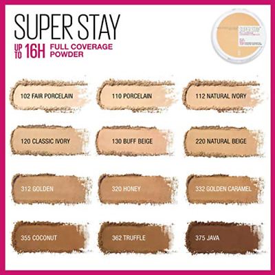 (1) Maybelline Superstay Full Coverage Powder Foundation, You Choose