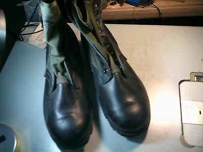 US Military Issue Vietnam Era 1 Pair Jungle Boots New Old Stock 13.5 XW
