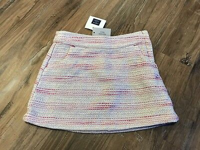 NWT Janie And Jack 18-24 Months Knit Skirt Pink White Silver