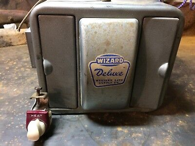Vintage Western Auto Supply Deluxe Wizard Heater With Switch Antique Car Truck