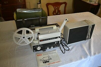 Eumig Model 810 D Super 8 mm sound projector with auxillary remote speaker