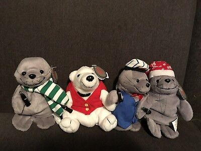 Coca Cola Plush Animals. Three Different Seals And A Bear. New With Tags 2a87df0c52bb