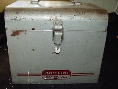 Vintage Porter Cable circular saw 6 inch type 125 with metal case 1954